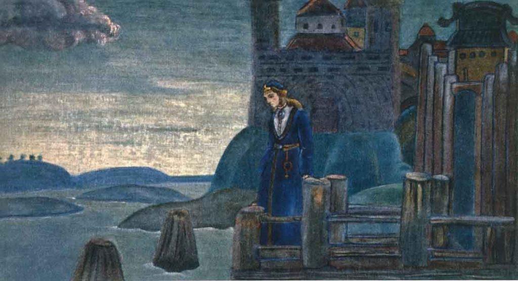 Песнь о викинге. Н.К. Рерих. 1907 г.