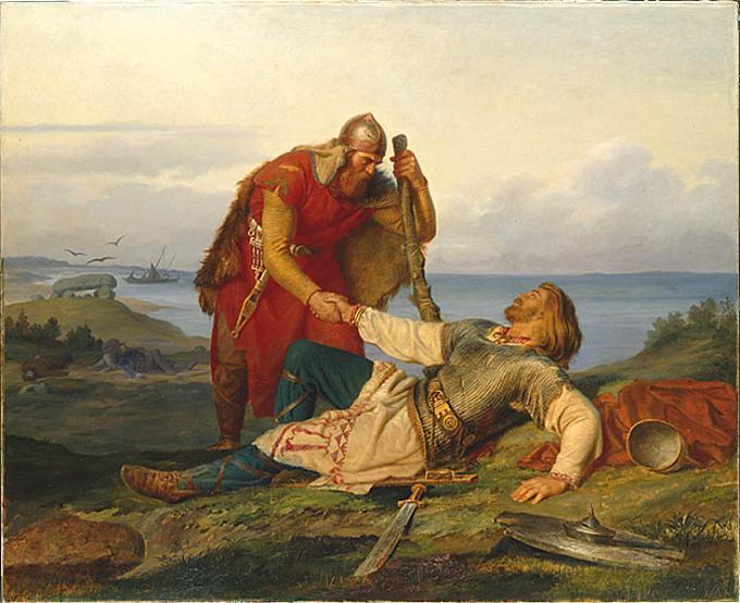 Мортен Винге. Одд и Хьяльмар после битвы на Самсей