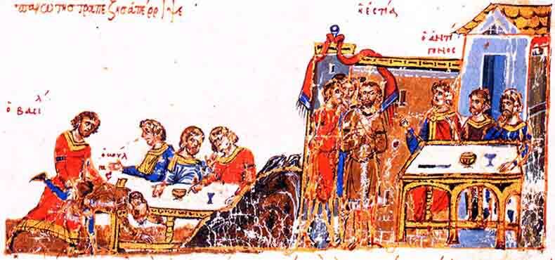 Молодой Василий побеждает прославленного болгарского борца