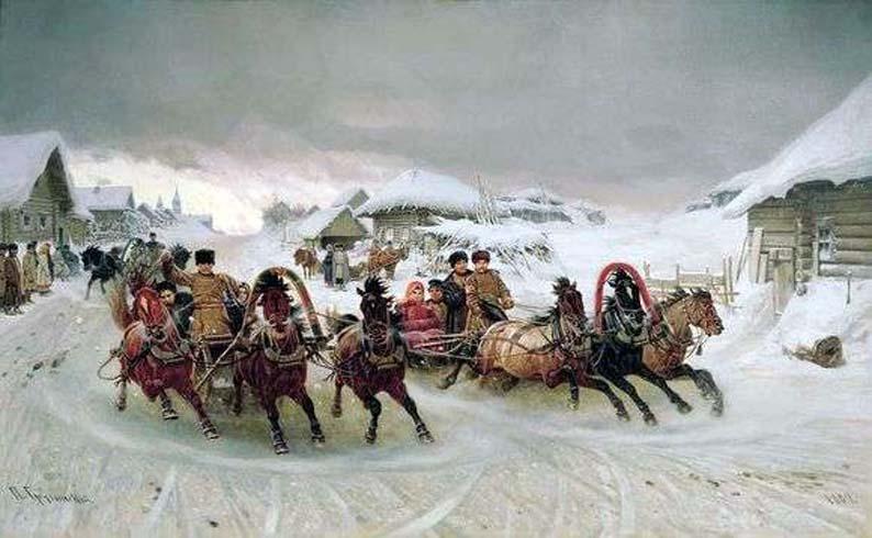Петр Грузинский, «Масленица» 1889 год