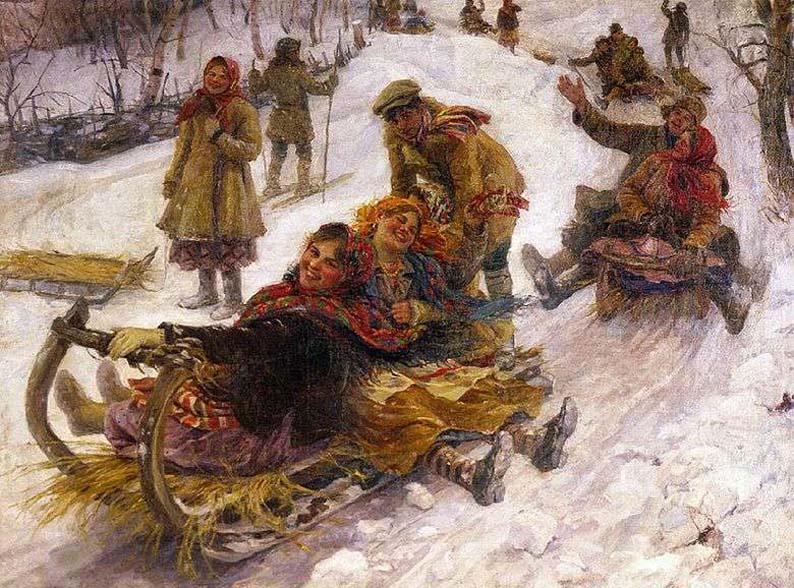 картина Ф.В.Сычкова «Катание с гор»