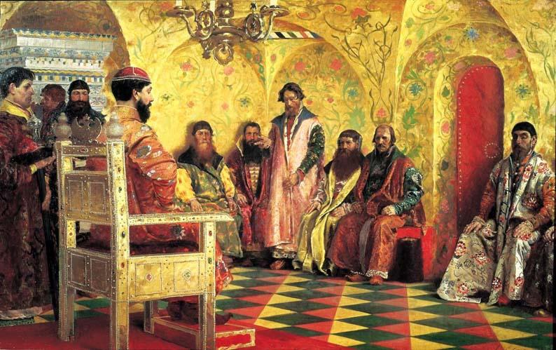 Рябушкин А. П. «Сидение царя Михаила Федоровича с боярами в его государевой комнате»»