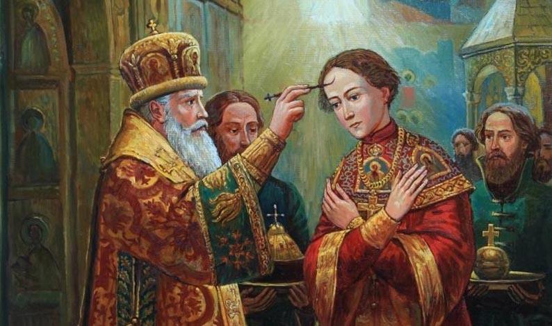 Помазание на царство Михаила Федоровича Худ. Филипп Москвитин