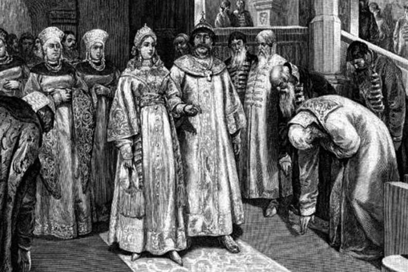 Елена Глинская и Василий III.